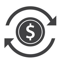 money transfer icon vector image
