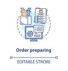 Order preparing concept icon goods dispatch idea vector