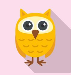 owl kid icon flat style vector image