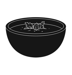 porcelain tureen with the soupvegetarian soup vector image