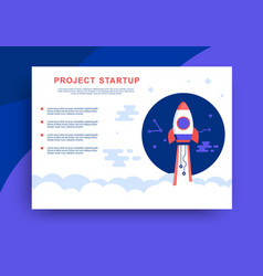project startup web presentation design vector image