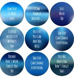 round motivational posters blue Inspirational vector image