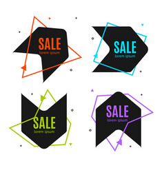 sale banner abstract advertising design set vector image