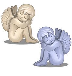sculpture angel baserene figurine isolated vector image