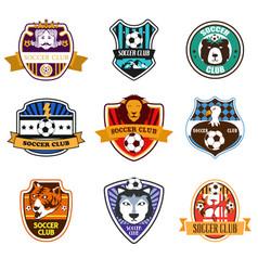 soccer club logos vector image