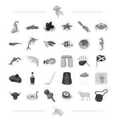 Species sea animal and other web icon vector