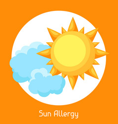 Sun allergy for medical vector
