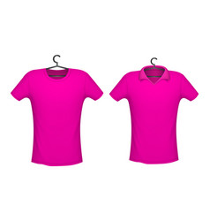 T-shirt and polo pink color vector