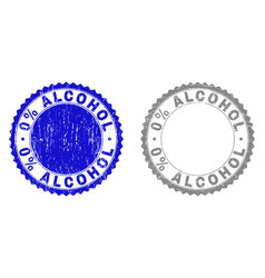textured 0 percents alcohol scratched stamp seals vector image
