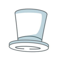 top hat elegant accessory fashion object vector image