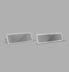 transparent plastic table card holder vector image