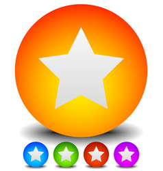 Trendy colorful star icon in 5 colors orange blue vector