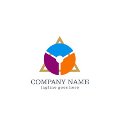 triangle business infographic logo vector image