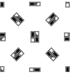 window cleaning pattern seamless black vector image