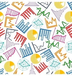 Business graphs and charts seamless pattern vector image vector image