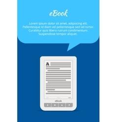 eBook or tablet concept Quote bubble A portable vector image vector image