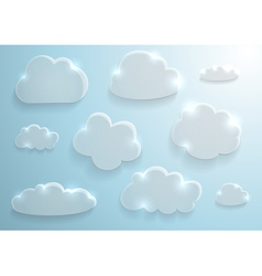 Glass clouds collection vector image vector image
