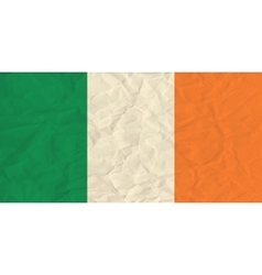 Ireland paper flag vector image