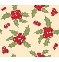 mistletoe background vector image