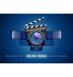 Online movie theater cinema vector