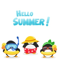 Summer Penguins vector image vector image