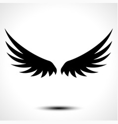 wings icon isolated on white background vector image vector image