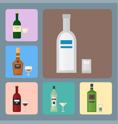 alcohol drinks beverages cocktail card drink vector image vector image