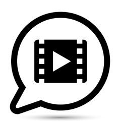 bubble with movie icon vector image