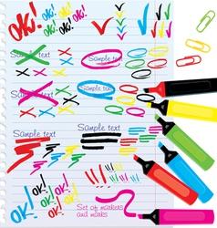 Color Markers Design Elements vector image