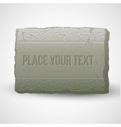 Ancient stones with inscriptions vector image