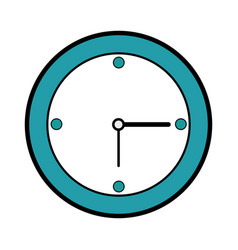isolated wall clock vector image