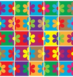 Seamless flowers background vector image vector image
