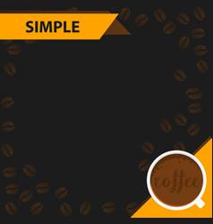 banners manu coffee vector image