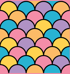 colorful pastel scale seamless pattern black vector image vector image