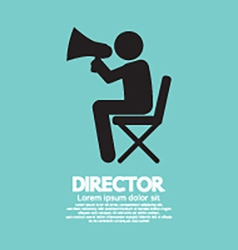 Film Director Symbol Graphic vector image
