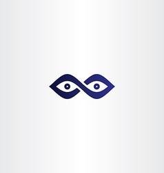Infinity eyes icon vector