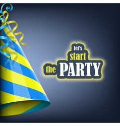 Lets Start the Party Holiday Banner vector image vector image