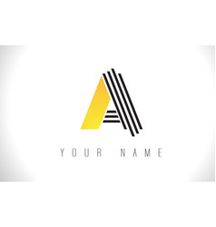 A black lines letter logo creative line letters vector