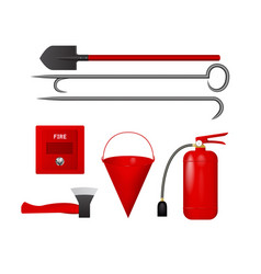 a set of tools to protect from fire vector image
