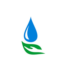 abstract leaf hand water nature logo icon vector image