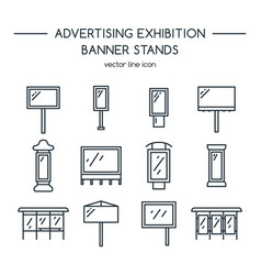 Advertising billboards and banner display vector