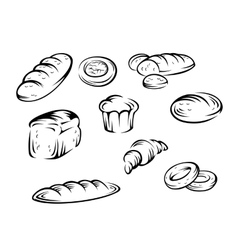 Bakery elements vector image