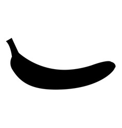Banana black color icon vector