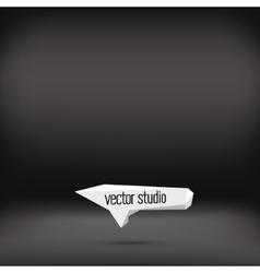 black studio room backdrop background vector image