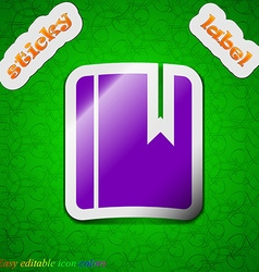 Book bookmark icon sign Symbol chic colored sticky vector