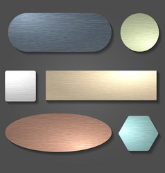brushed metal surface set vector image