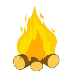 burning bonfire icon cartoon style vector image