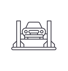 car repair shop line icon concept car repair shop vector image