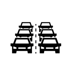 car traffic jam icon symbol and sign vector image