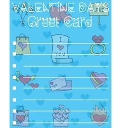 Card for valentine day design collection vector